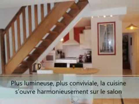 ouverture cloisons cuisine am ricaine salon s jour espace ouvert travaux caen 14 youtube. Black Bedroom Furniture Sets. Home Design Ideas