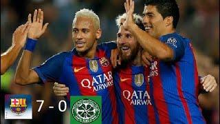 Barcelona vs  Celtic 7-0 por la Champions League 2016 - 2017