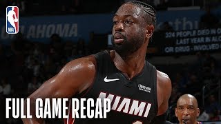 NBA Highlights: Heat vs. Thunder | Dwyane Wade Goes For 25 Points In OKC | March 18, 2019