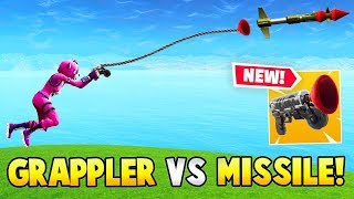 *NEW* GRAPPLER GUN vs GUIDED MISSILE!? (Fortnite FAILS & WINS #21)