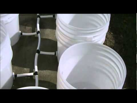 2012 Bucket Garden Automatic Watering System Part 1