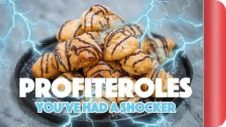 Chefs vs Normal Guys - Making Profiteroles With No Recipe (Electric Shock Forfeits)