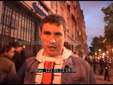 Emeutes à Paris le soir de l'élection de Sarkozy