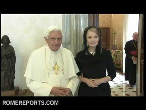 Ukraine's Prime Minister Yulia Tymoshenko visits Pope