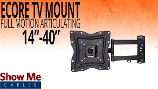 """How To Install A Full Motion Articulating TV Mount For TV's Between 14"""" To 40"""" #17-415-001"""