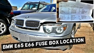 bmw fuse panel 3gp mp4 hd video bmw e65 e66 fuse box location and diagram 745i 745li 750i 750li 760li 730i 735i 730d