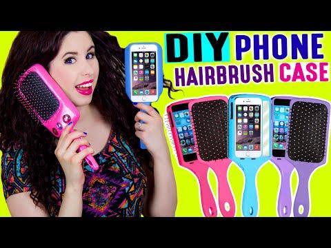 DIY Hairbrush Phone Case | Brush Your Hair With Your iPhone | Take Selfies With Your Hairbrush!