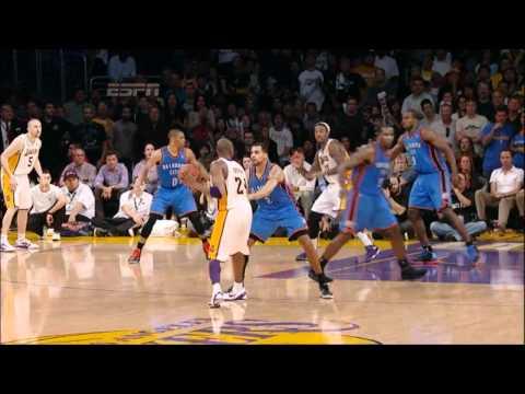 [HD] Kobe Bryant 26 Points (2 Clutch 3 Pointers) vs Oklahoma City Thunder - Highlights 22/04/2012