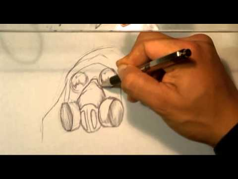 Gas Masks Drawing Drawing a Gas Mask How to