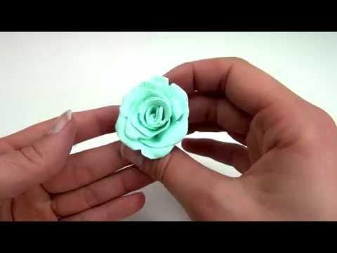 DIY Rose Aus Fimo Tutorial   Polymer / Clay Rose Schnell Selber Machen   Deutsch
