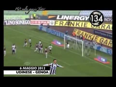 Di Natale All 150 Gol with Udinese