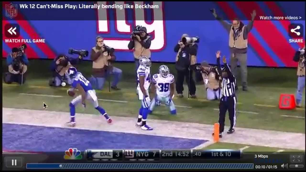 Odell Beckham Jr. Catch - YouTube