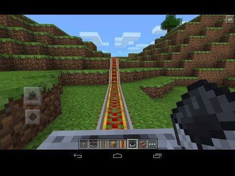 Minecraft Pocket Edition 0.8.1 Update: Minecart and Rail Tutorial & Demo