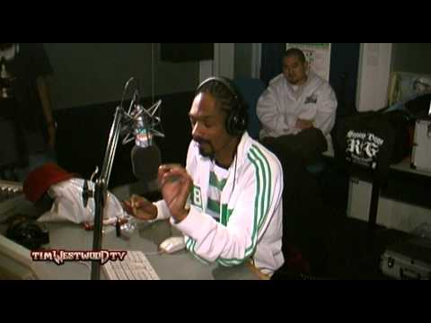 This interview rules. 2005, Snoop Dogg walks into the British radio show Tim Westood with a blunt lit, starts randomly freestyling over the studio backing track without being asked, passes the blunt to the DJ