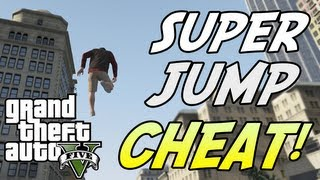 GTA 5: SUPER JUMP! Cheat Code Tutorial (Xbox 360, PS3)