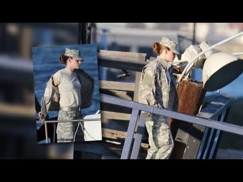 Kristen Stewart Reports For Duty on Camp X-Ray Set - Splash News