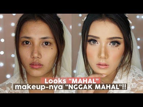 Bridal Makeup Flawless Tutorial Pakai Produk Drugstore di wajah Indonesia - YouTube