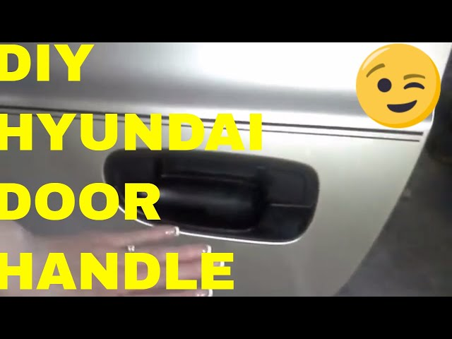 Hyundai Accent Door Handle Replacement , Fix , - YouTube