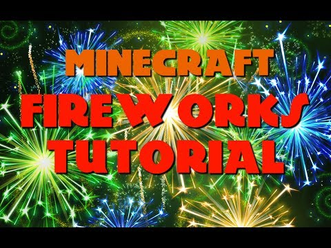 How to make CUSTOM FIREWORKS in Minecraft - Tutorial