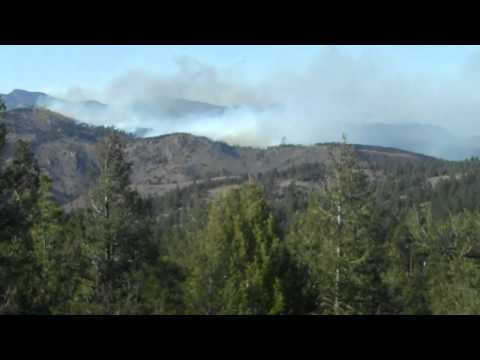 Indian Gulch Fire From Lookout Mtn 3 21 11 video