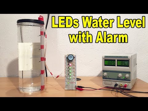 Make Water Level Indicator with Alarm System + explanations & electric diagram - By STE