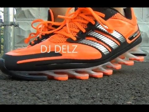 adidas Springblade Shoes on Feet Close Up Testing Blades With Dj Delz