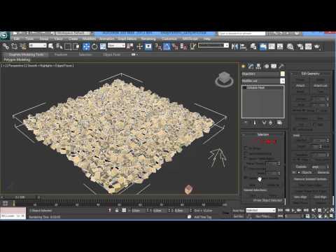 Как создать массив в 3d max