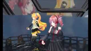 [MMD] Bad Apple Tda Neru and Teto