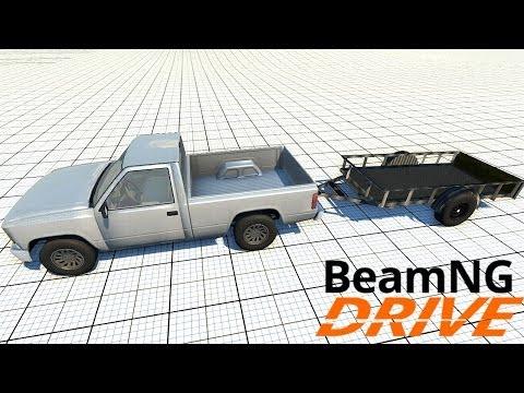 beamng drive alpha pickup truck trailer at the test. Black Bedroom Furniture Sets. Home Design Ideas