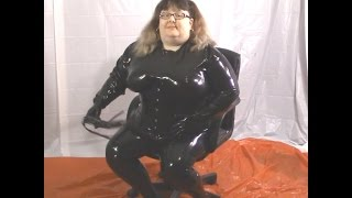 15 015-  BBW FetishKimmy Full Black Latex and Pigtails
