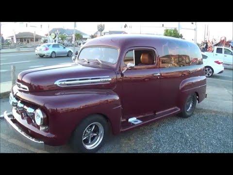 1951 FORD F 1 PRO STREET PANEL TRUCK OC CRUISIN BURNOUT DGTV CARS