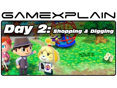 Animal Crossing: New Leaf - Day 2: Shopping and Shoveling (3DS Video Preview)