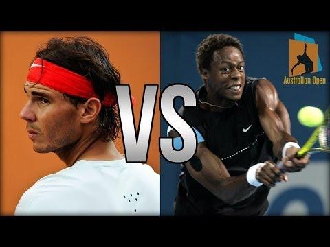 Rafael Nadal Vs Gael Monfils Australian Open 2014 Highlights