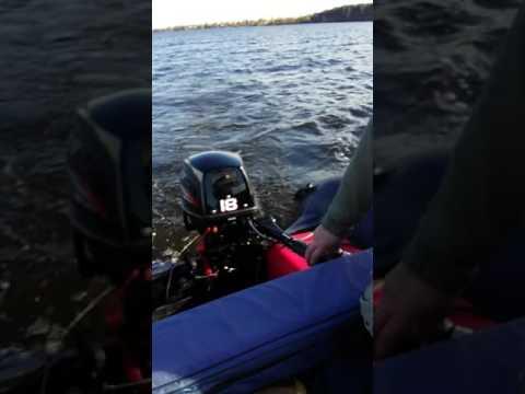 перевернулся лодочный мотор