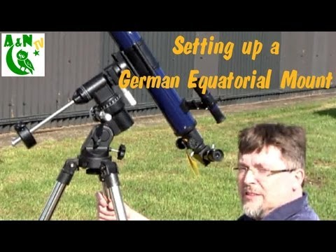 Setting Up a German Equatorial Mount