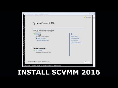 Installing System Center Virtual Machine Manager 2016 - Installing SCVMM 2016