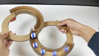 How to make marble 88 track toy with cardboard