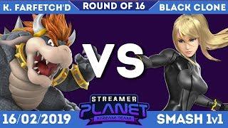 King Farfetch'd (Bowser) Vs Black Clone (Zero Suit Samus) - Streamer Planet Smash Ultimate Feb Ro16