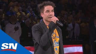 Pat Monahan Sings The Star Spangled Banner Ahead Of Game 6 Of NBA Finals