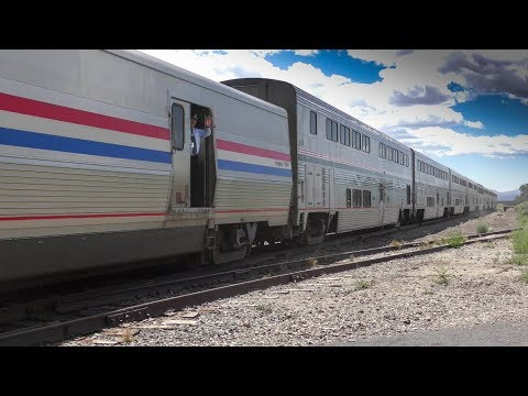 The Amtrak Southwest Chief in Lamy, NM  4K
