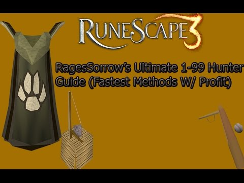 [Runescape 2015] RagesSorrow's Ultimate 1-99 Hunter Guide  (Fastest Methods W/ Profit)