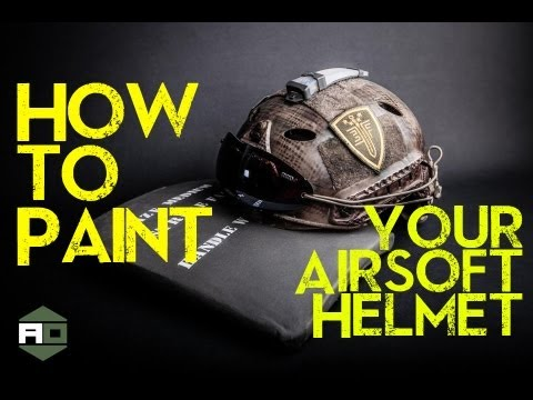 How to Paint Your Airsoft Helmet (HD) - A DIY Tutorial by Dave Baks - Airsoft Obsessed com