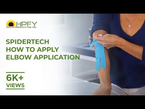 Spider tech kinezológiai tapasz könyökre termékbemutató videó