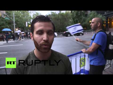 "USA: Pro-Palestine protesters ""would be used as bombs in Gaza"" says Israel supporter"