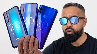 Honor 20 Pro Unboxing vs Honor 20 vs 20 Lite