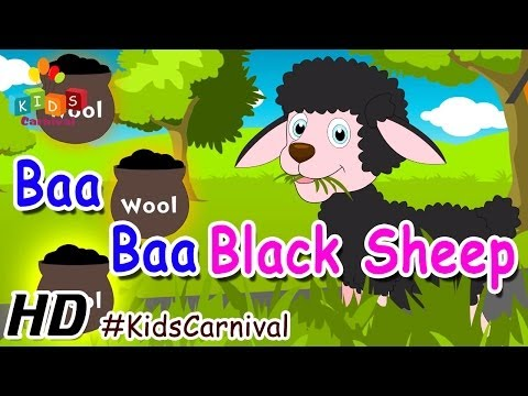Baa Baa Black Sheep - Children English Nursery Rhyme With Lyrics (subtitles) And Action video