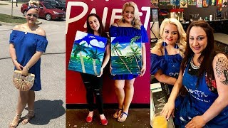 Erica's Life Vlog | Church & Painting Class With Stacy!