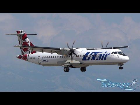 RARE! UTair Ukraine - ATR-72-500 UR-UTK - Landing at Split Airport SPU/LDSP
