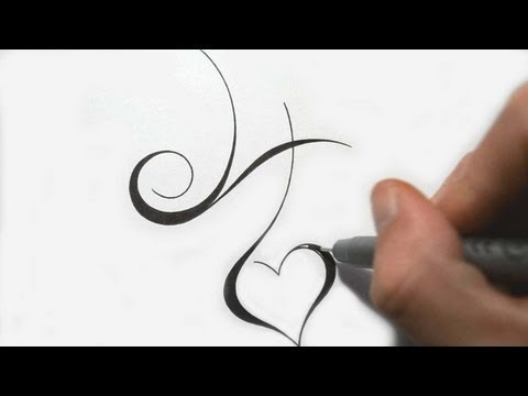 Designing Simple Initial H Tattoo Design Calligraphy Style