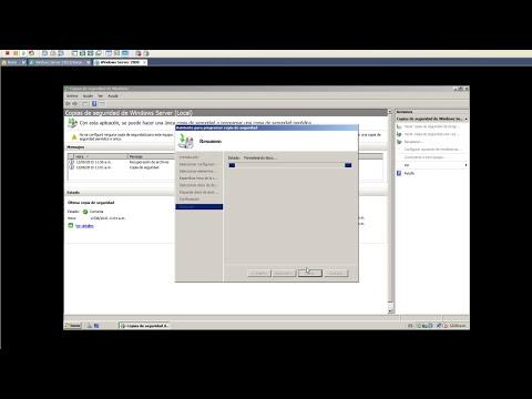 Copia de seguridad en Windows Server 2008